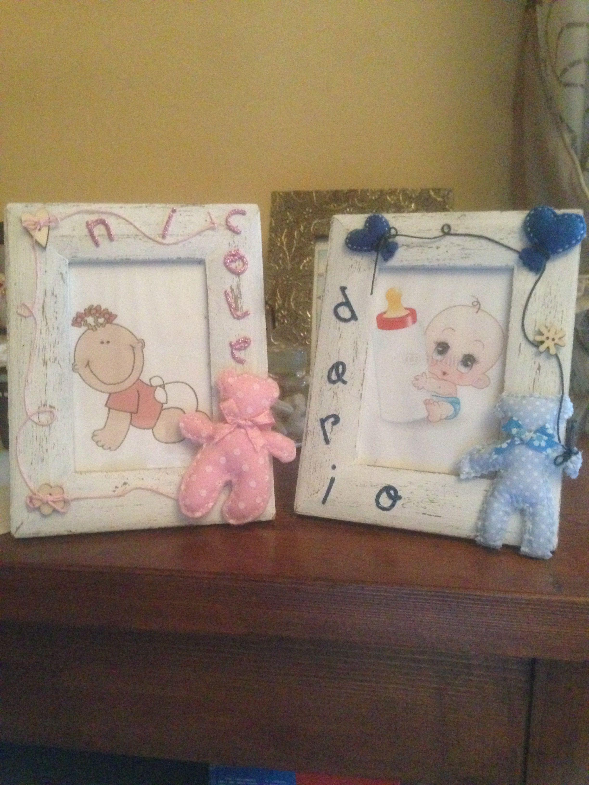 Cornici Bambini ~ Cornici in legno bimbo e bimba stile shabby personalizzate
