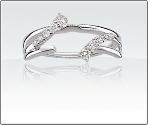 wrap wedding band to go around engagement ring simple and doesnt