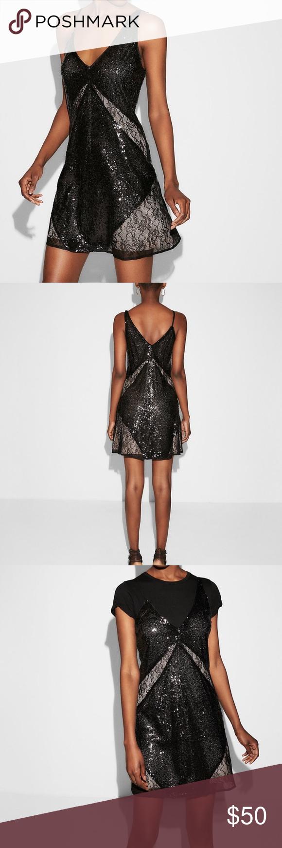 Express Sequin Lace Shift Dress  My Posh Picks  Pinterest