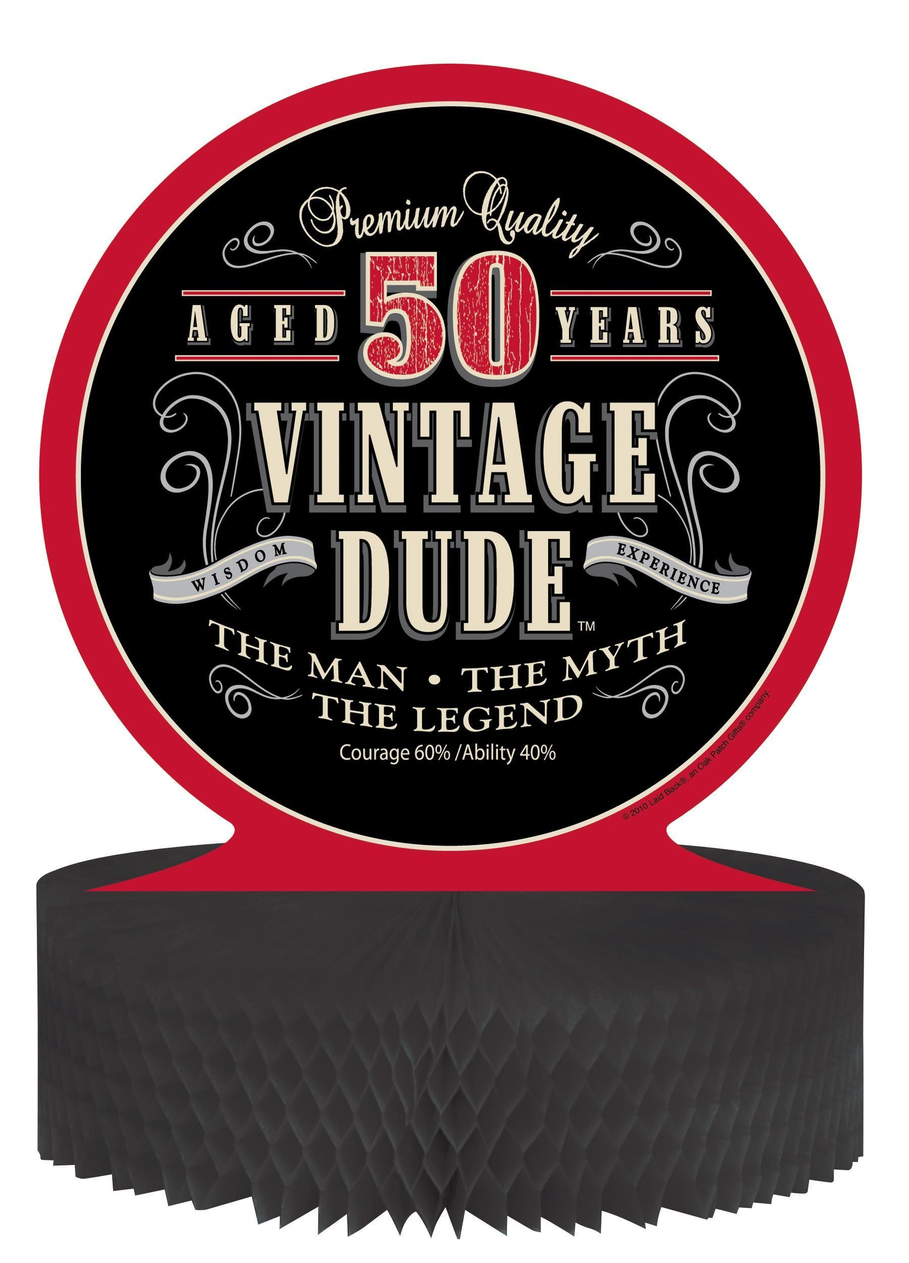 Vintage Dude Centerpiece, Honeycomb, 50th (6/case) | Honeycombs ...