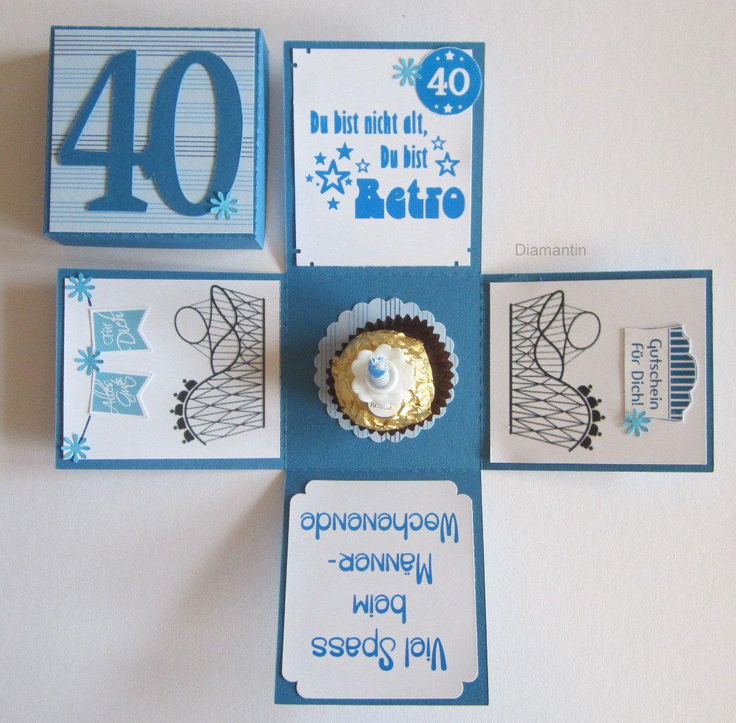 Geburtstagsset Zum 40 Geburtstag Gutschein Basteln Geburtstag