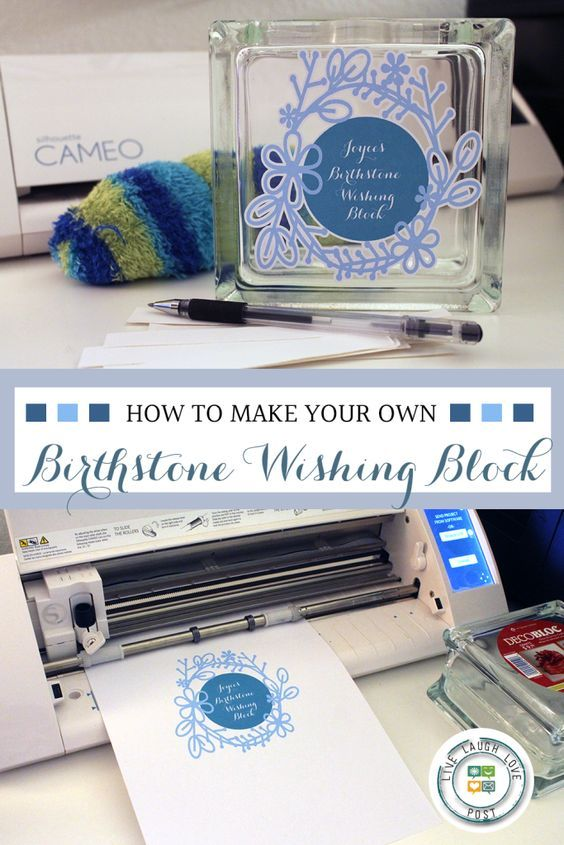 The Ultimate Pinterest Party, Week 132 | How To Make Your Own Birthstone Wishing Block