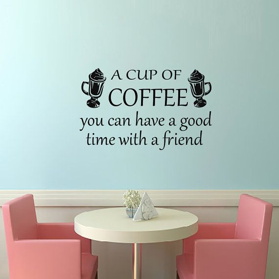 wall decals a cup of coffee decal vinyl sticker cup home decor