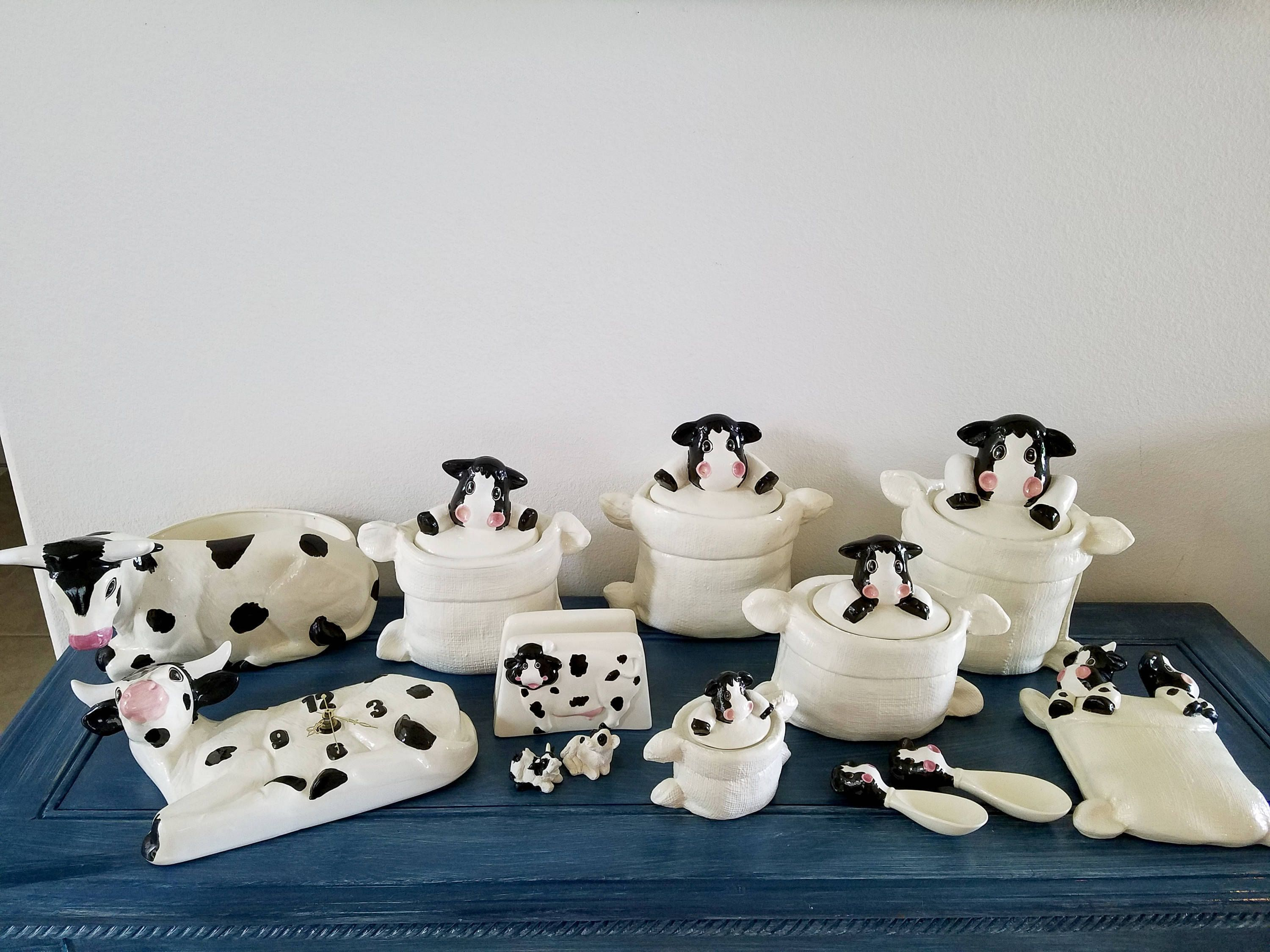 Farm Kitchen Decor Dairy Cow Kitchen Canisters Cow Creamer Wall