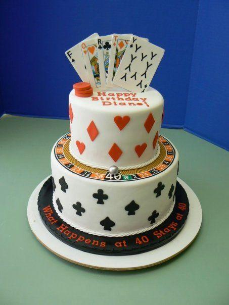 Another Gamblingcasino Themed Cake Poker Theme Pinterest - Tartas-de-cumpleaos-para-adultos