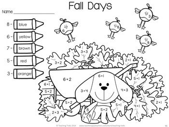 Fall Activities for Kindergarten: Fall Math and Language