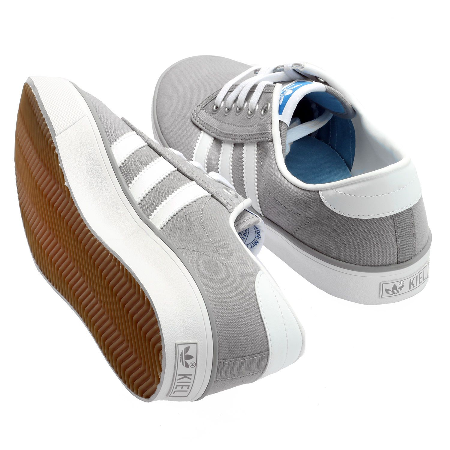 best loved 0854e 6616c adidas Kiel shoes  Grey and White M20322 BNIB