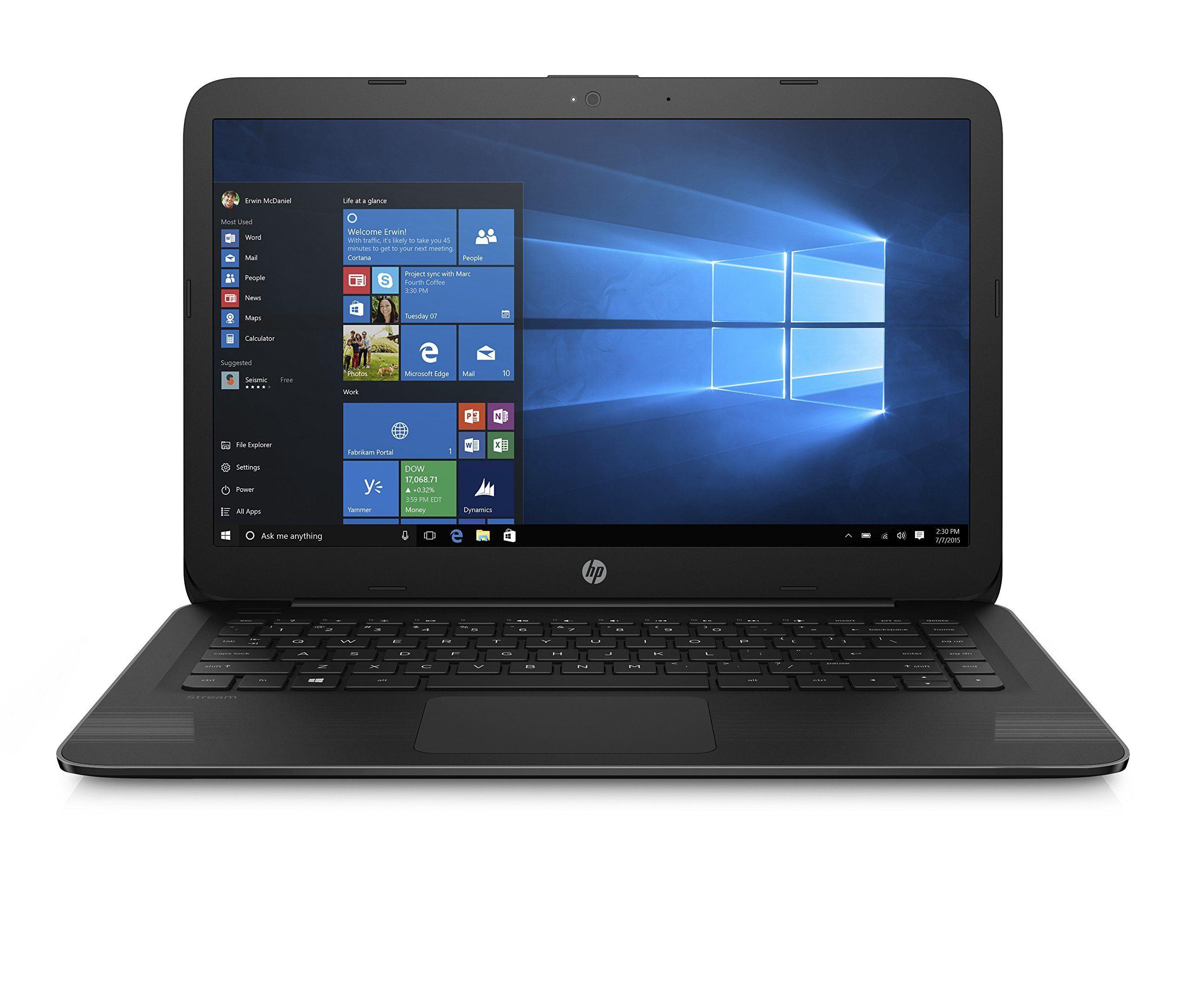 Hp 14 Inch Stream Laptop Intel Celeron N3060 Processor 4gb Ram 32gb Emmc 1 Year Office 365 Personal Included Hdmi Intel Hdmi Laptop