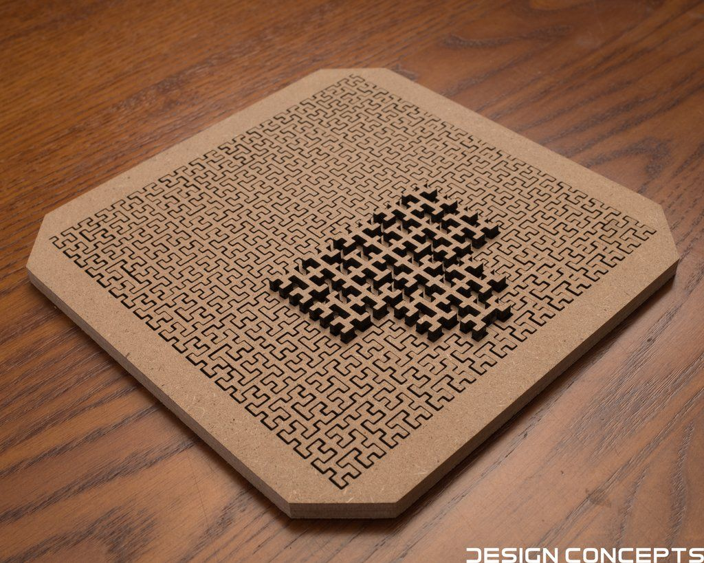 Fractal Jigsaw Puzzle 14 Piece Block Version In 2019 Wood