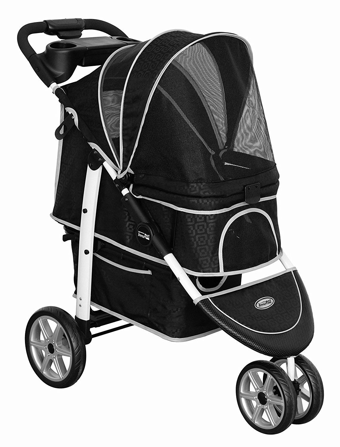 Monaco Pet Buggy and Stroller by InnoPet Black incl Rain