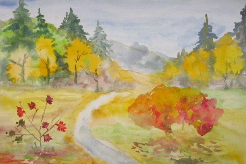 Картинки: «Осенний пейзаж» для детей (43 фото) (с ...
