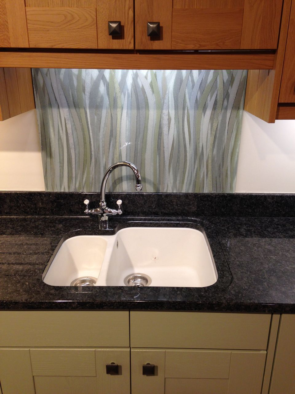 Kitchen Splashback In Stipa From Our Grasses Series On Display