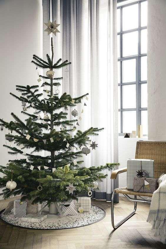 Albero Di Natale Vero.Albero Di Natale Bianco Alberi Di Natale Moderni Natale Moderno Decorazione Festa