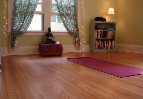 Beauty That Moves Our New Yoga Room Home Yoga Room Yoga Studio Home Yoga Room