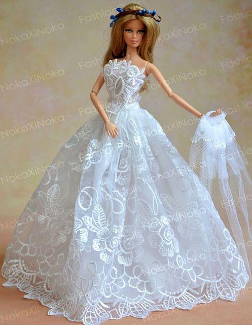 Barbie Noiva ~ vestido noiva festa casamento gala boneca barbie susi Acessórios de bonecas Pinterest