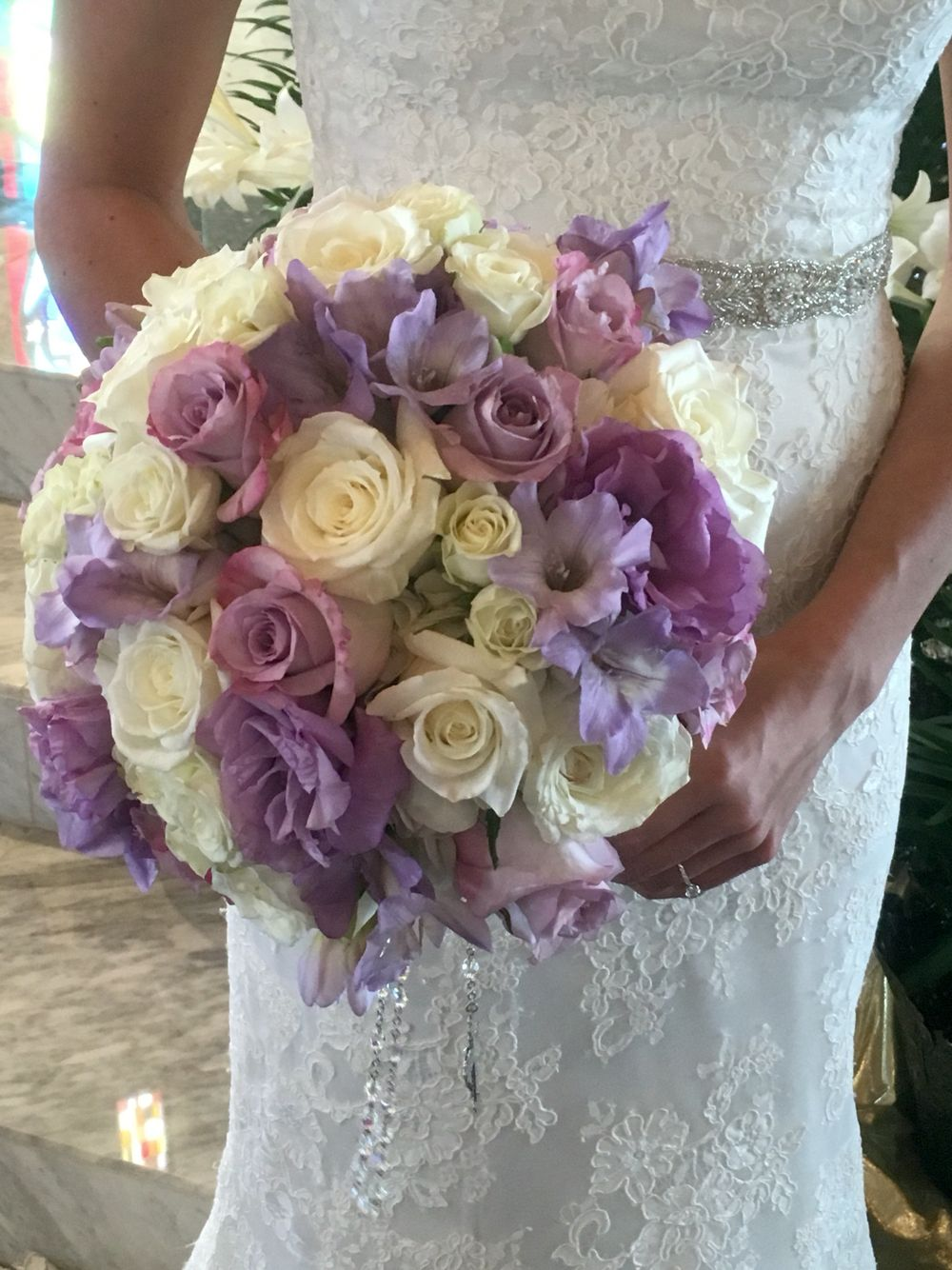Lavender And White Flowers Make Up This Beautiful Bouquet Flowers