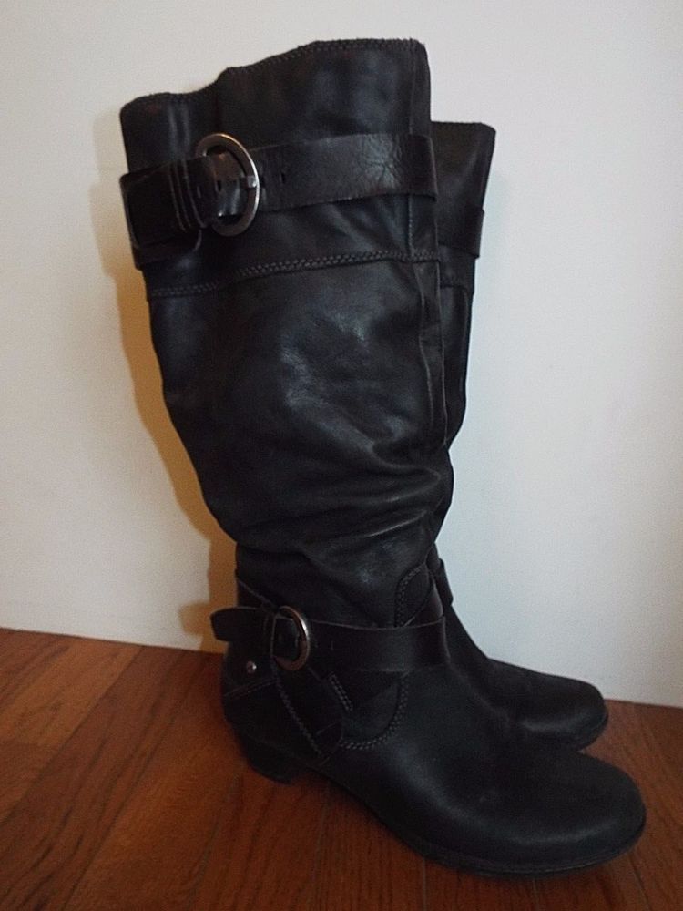 b5cbbea5e Pikolinos Womens Brujas Slouch Boot Double buckle black Leather,EU 38M  #Pikolinos #KneeHighBoots #Casual