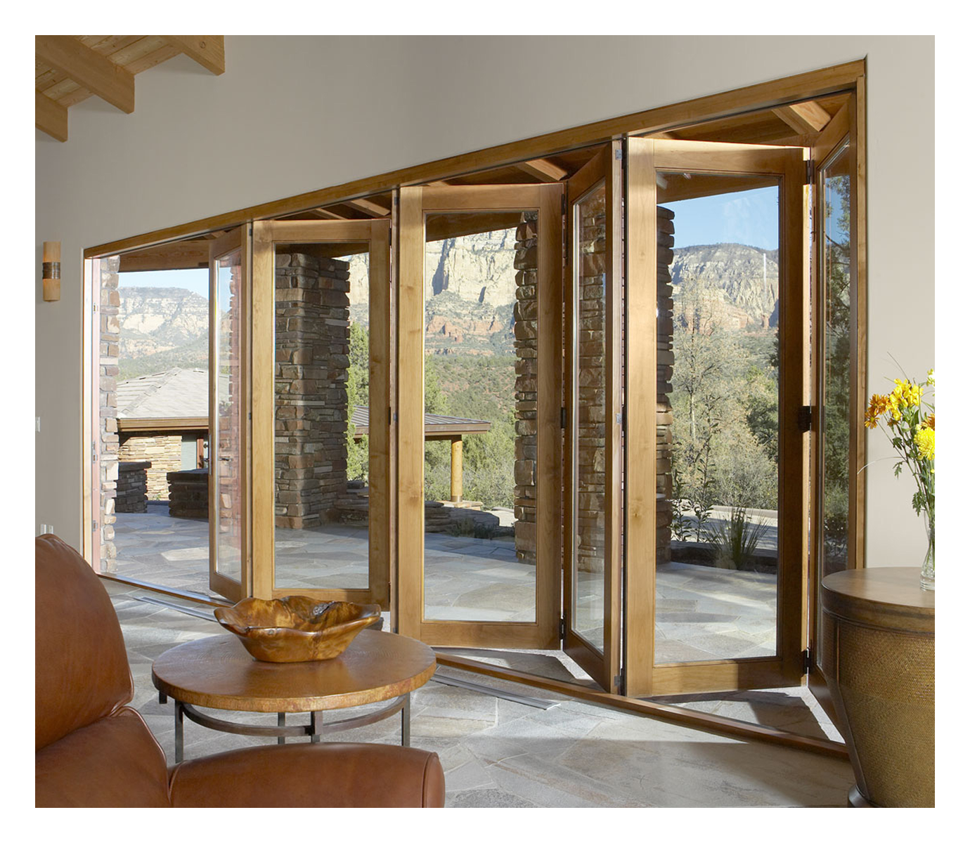 Exterior glass patio doors - Vista Pointe Bi Fold Multi Slide Patio Door Hurd Windows Doors