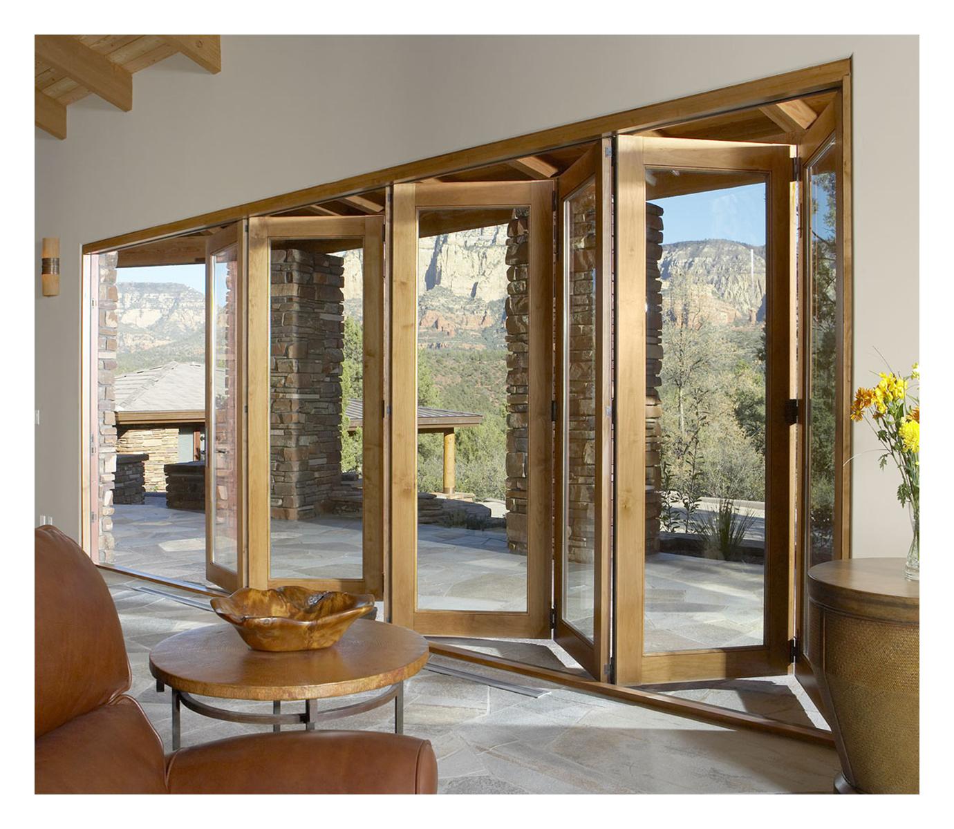 Ideas Folding Patio Doors Interior Partially Open Bifold Patio