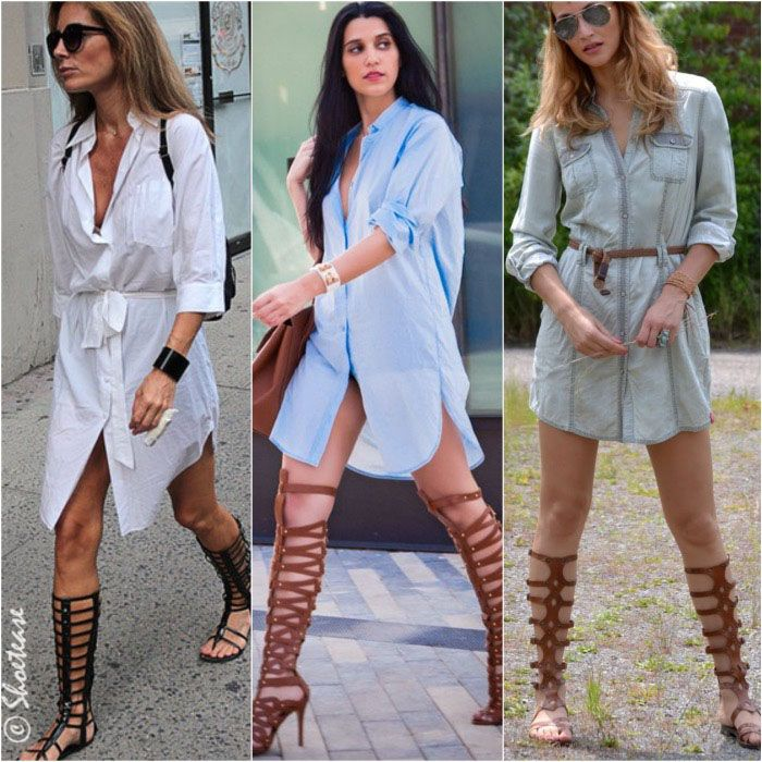 becdd9e7bb6 How to Wear Gladiator Sandals Shirt Dress More