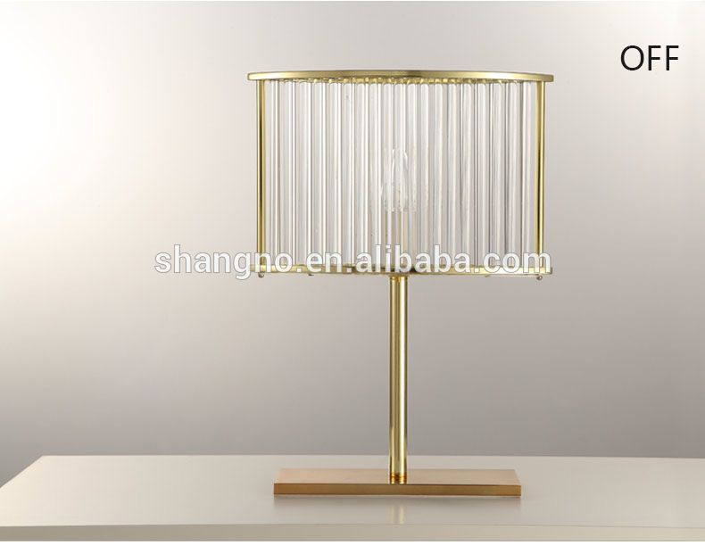 Photo of Modern simple luxury bedside decoration LED crystal table lamp decor for living room bedroom