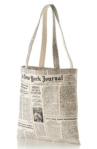 Newspaper print canvas shopping tote | Newspaper printing and ...