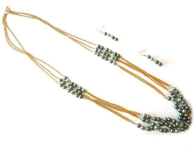collares con cadenas y perlas - Buscar con Google