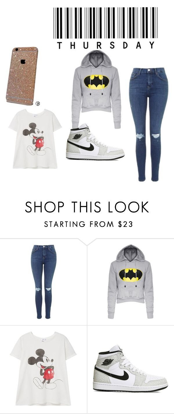 """""""fun Thursday"""" by rileypult on Polyvore featuring Topshop, MANGO and NIKE"""