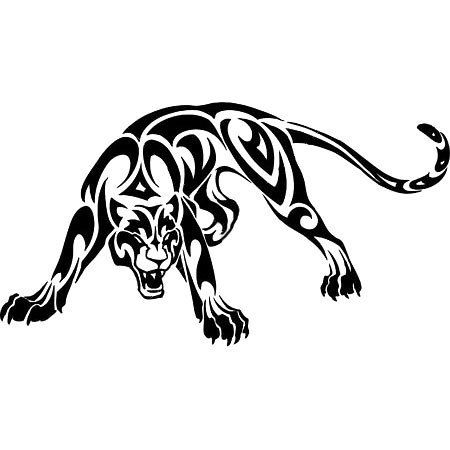 Awesome Tribal Angry Panther Style Tribal Color Black Tags Best Easy Awesome Panther Tattoo Tribal Tattoos Cool Tribal Tattoos