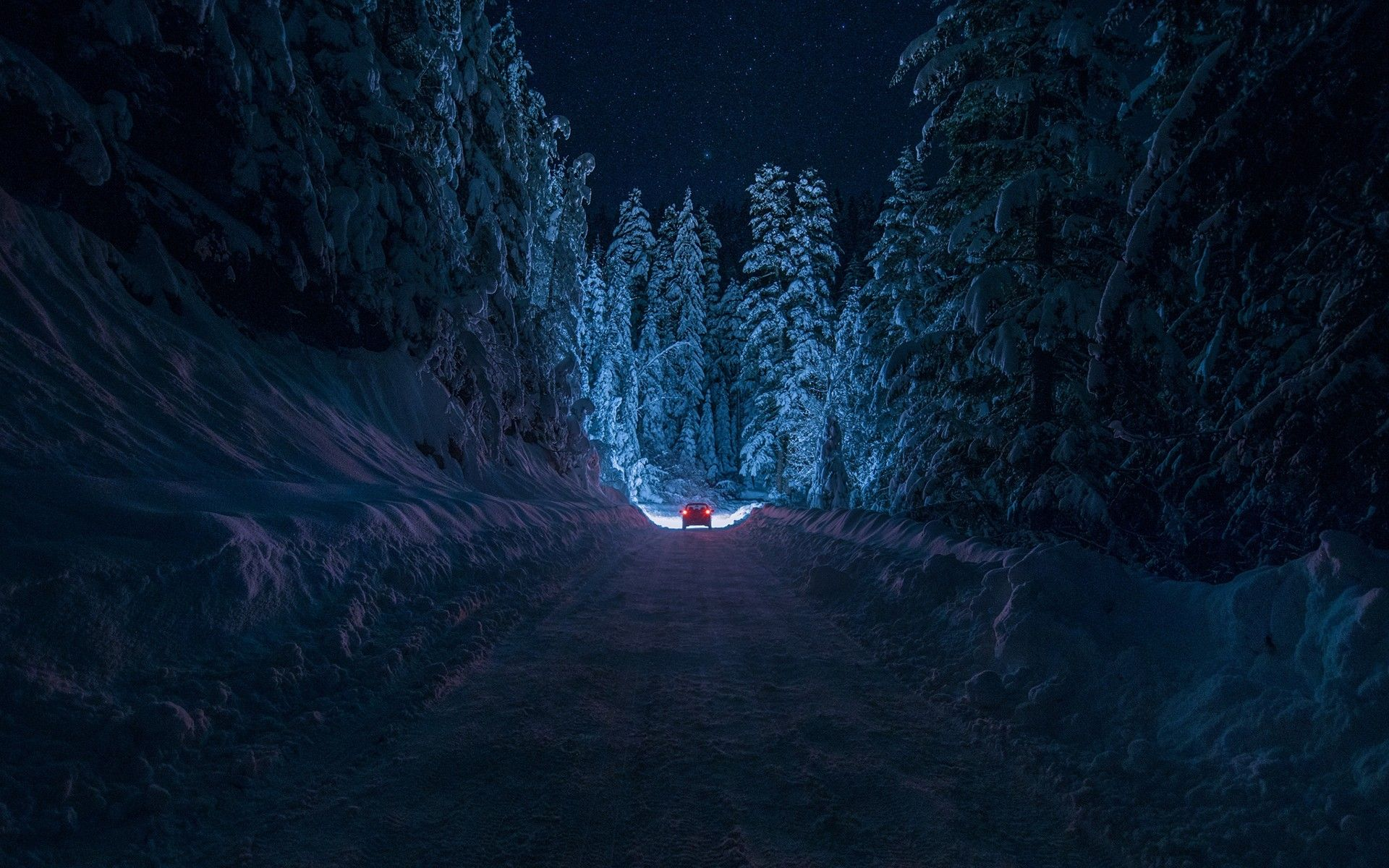 Image result for drives in winters night photography