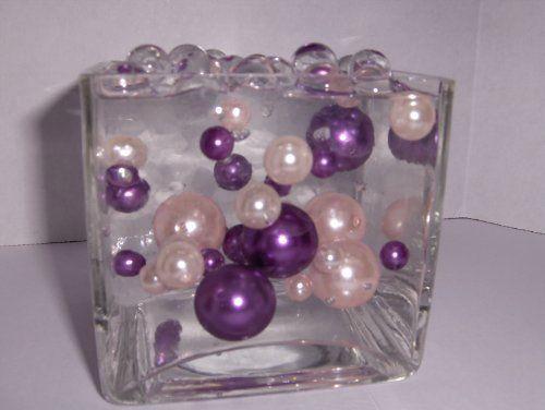 Purple and orange water bead centerpieces elegance