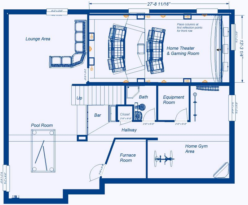 Home Theater Design Company Plans Cool Small Home Theater  Theater Floor Plans  Over 5000 House Plans . Review