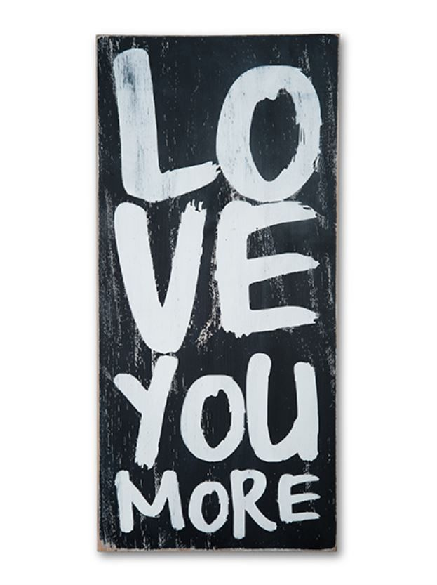 love you more wall decor primitives and anniversaries. Black Bedroom Furniture Sets. Home Design Ideas