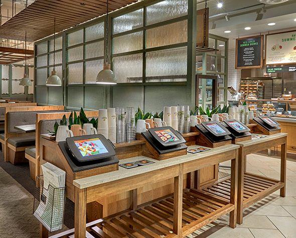 Panera order kiosks bread downers grove ill