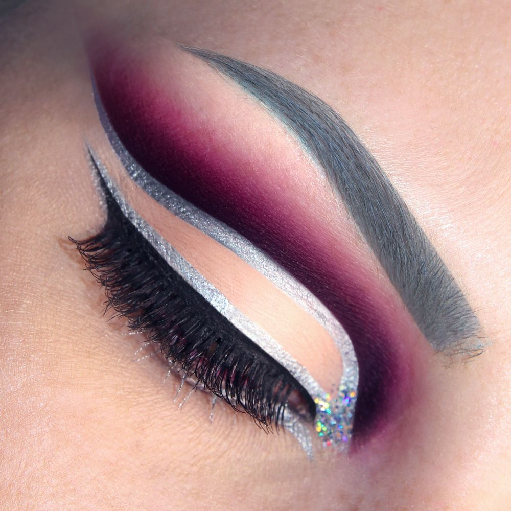 Pink silver glitter dramatic cut crease makeup tutorial double pink silver glitter dramatic cut crease makeup tutorial double eyeliner make up look please baditri Image collections