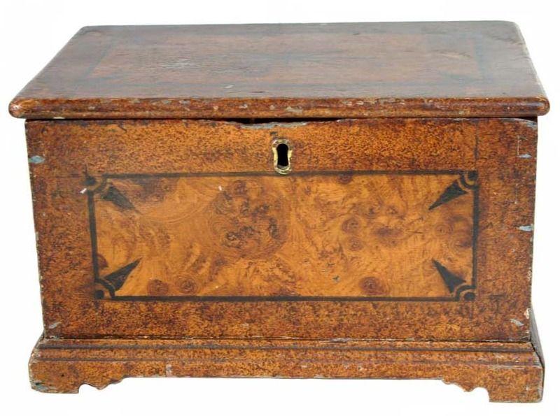 Miniture Paint Decorated Vermont Box