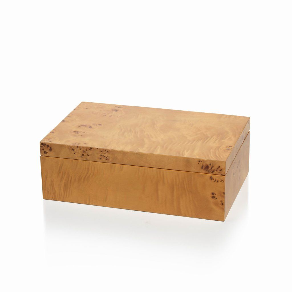 Burlwood Rectangular Box Small Dimensions 8 Quot X 5 Quot X 3 Quot Large Dimensions 10 Quot X 6 5 Quot X 3 5 Q Burled Wood Rectangular Decorative Boxes