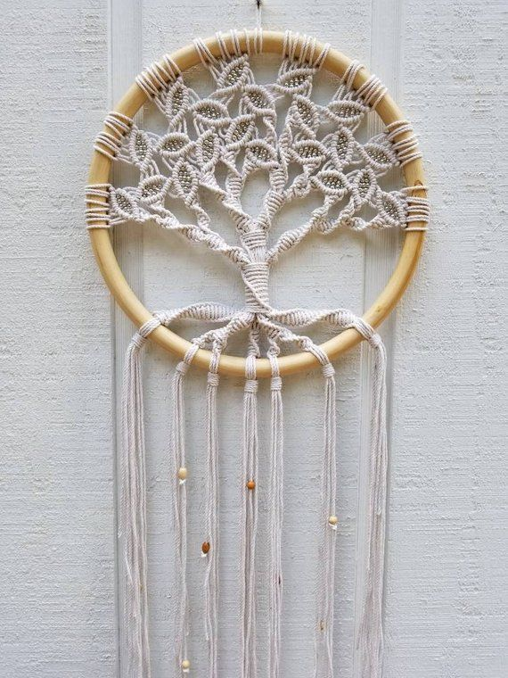 #art #Circle #DECOR #hanging #Large #Life #macrame #tree #wall #Woven #Yoga #Zen Tree of Life / Large Macrame Wall Hanging / Circle Art / Woven