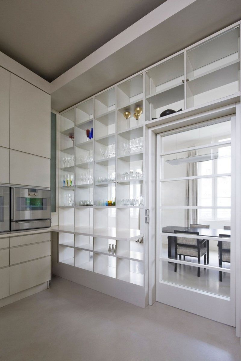 trennwand offener regal und verglasung in eins firmenk che offene wohnk che frisches. Black Bedroom Furniture Sets. Home Design Ideas