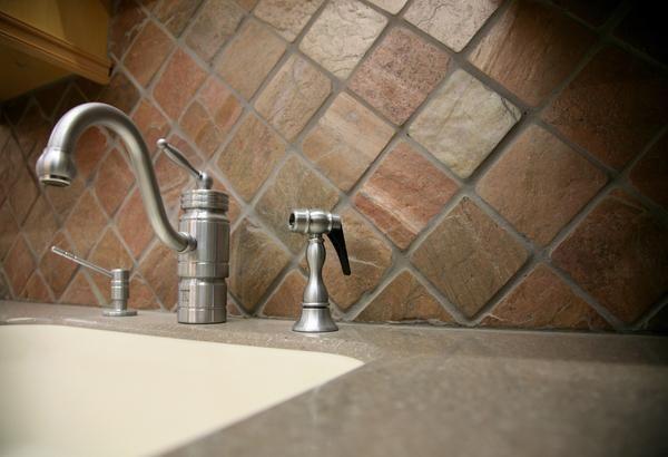 How To Remove Limescale From Natural Stone Tiles Kitchen Backsplash Designs Granite Backsplash Kitchen Backsplash