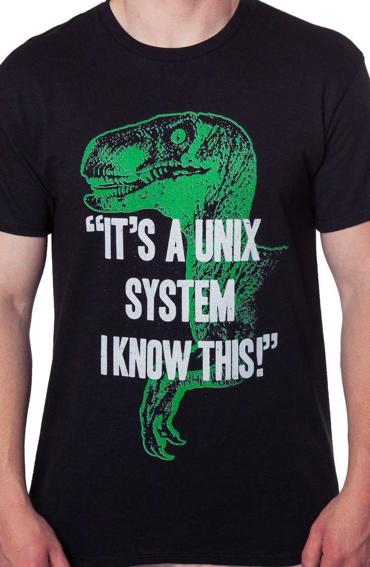 178944ac2ab Unix System Jurassic Park T-Shirt  Jurassic Park Mens T-shirt
