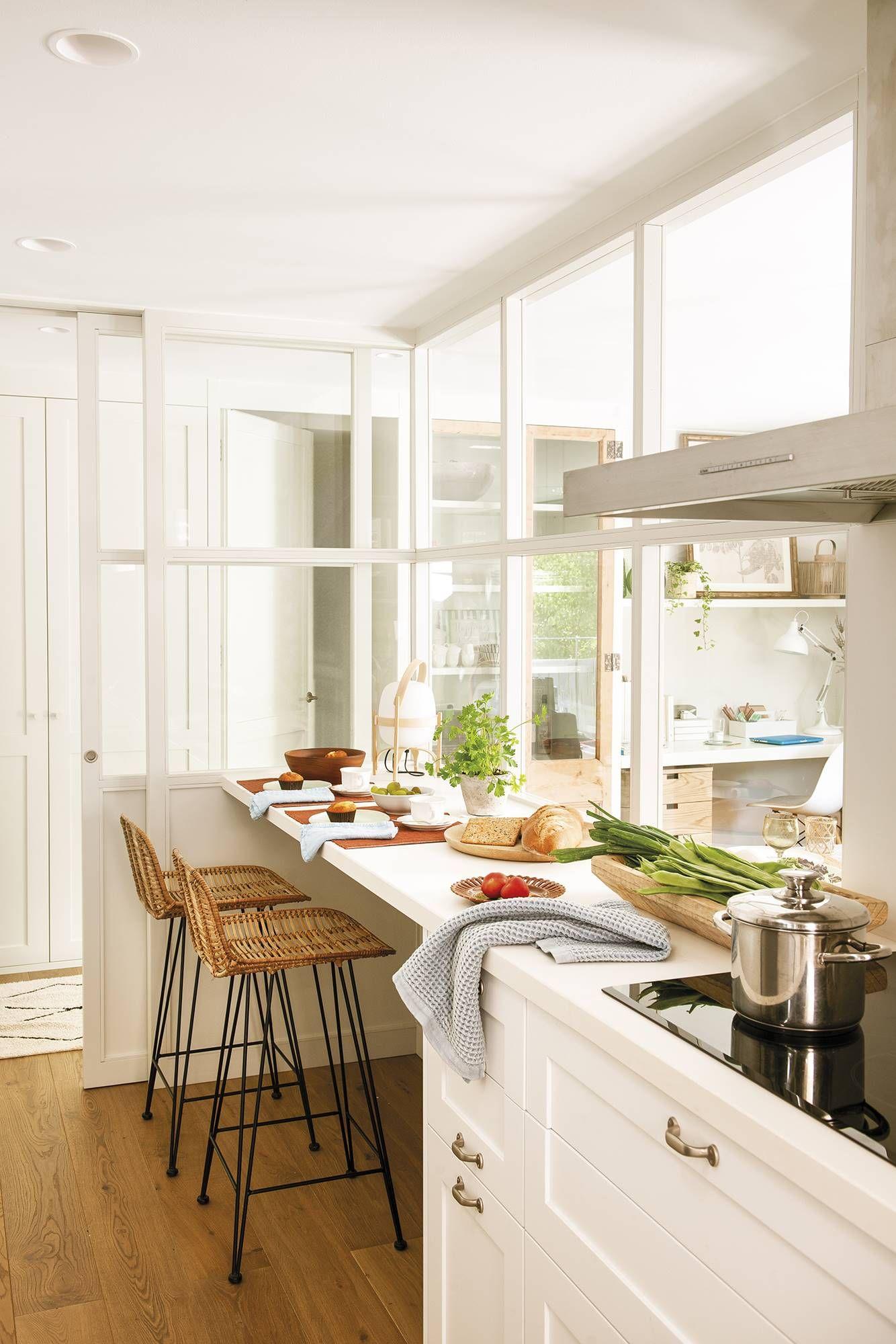 La cocina con cerramiento parece más grande  Petit appartement