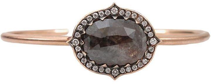 Sylva & Cie rough diamond cuff bracelet on shopstyle.com