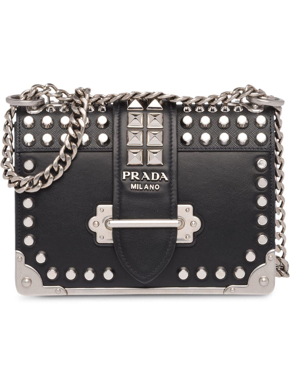 d98d3cefe Prada Сумка 'Cahier' с Заклепками   Rock style: bags   Bolsos ...