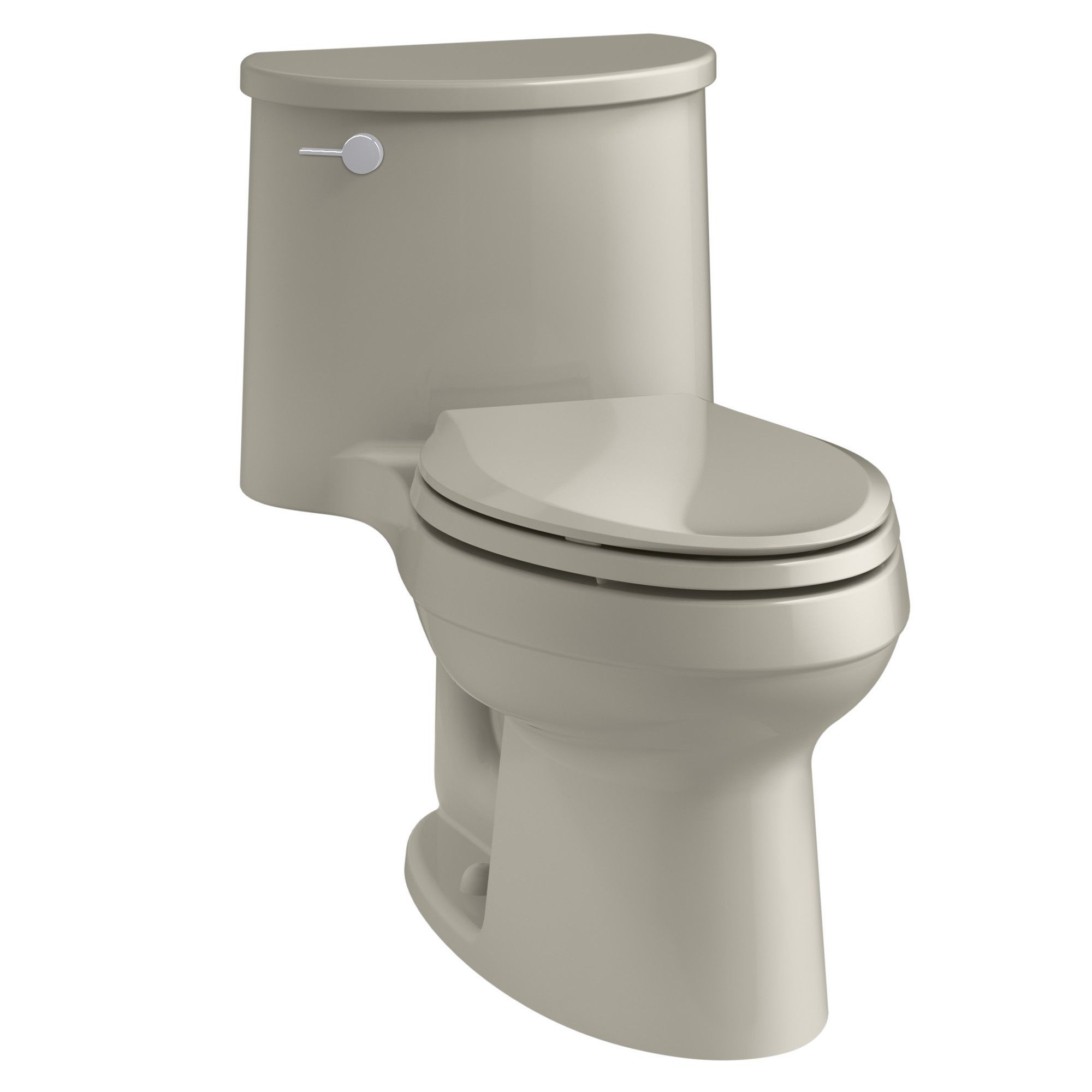 Adair One-Piece Elongated 1.28 GPF Toilet with Aquapiston Flush Technology and Left-Hand Trip Lever