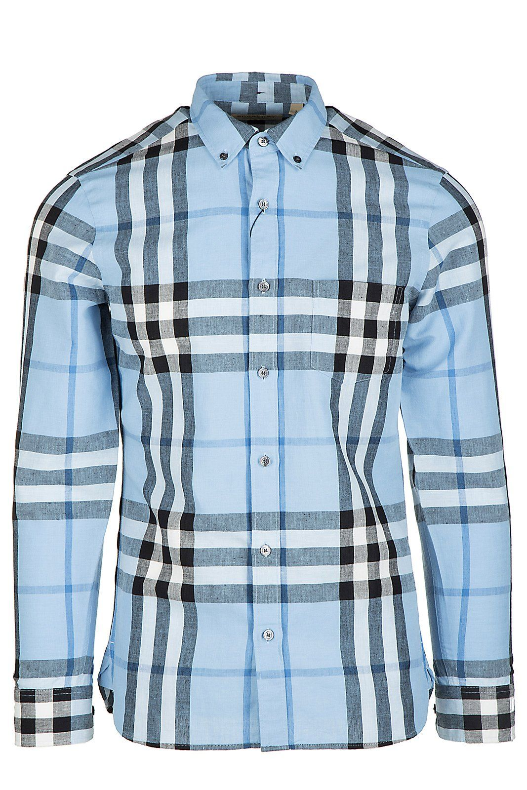 Burberry menus long sleeve shirt dress shirt blu us size m us