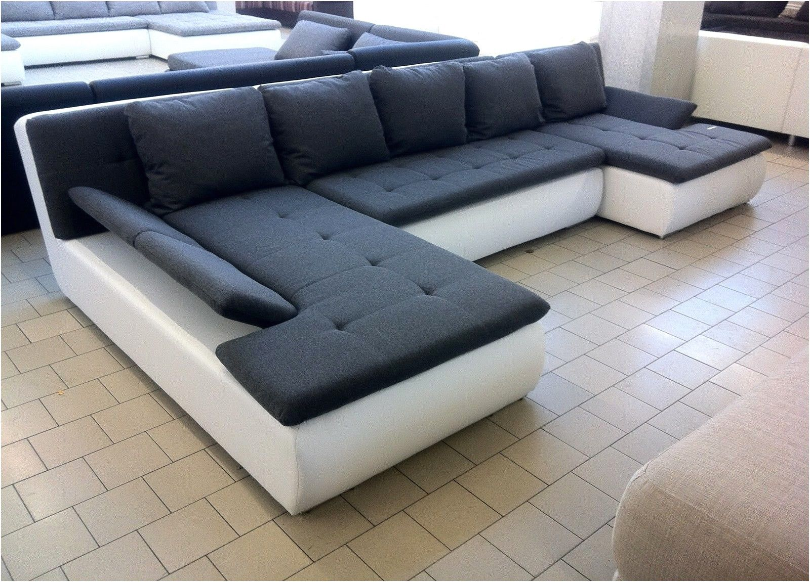 Schon Grau Weisse Couch Sofa Styling U Shaped Sectional Sofa