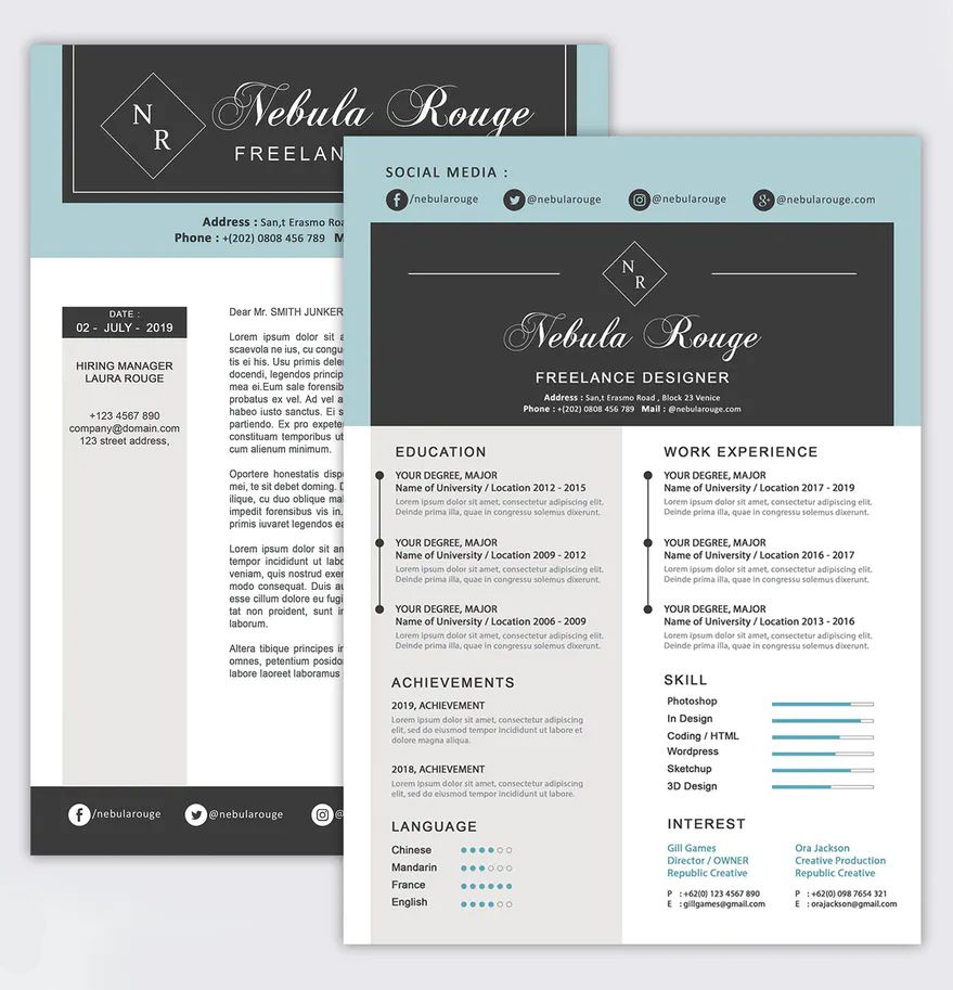 Resume Template Resume template, Templates, Resume