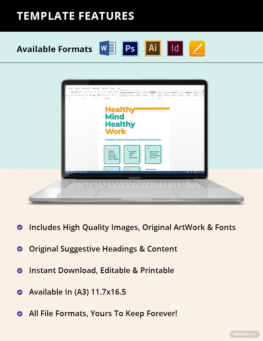 Occupational Health Poster Template Free Pdf Word Doc Psd Indesign Apple Mac Pages Illustrator Poster Template Powerpoint Tutorial Occupational Health