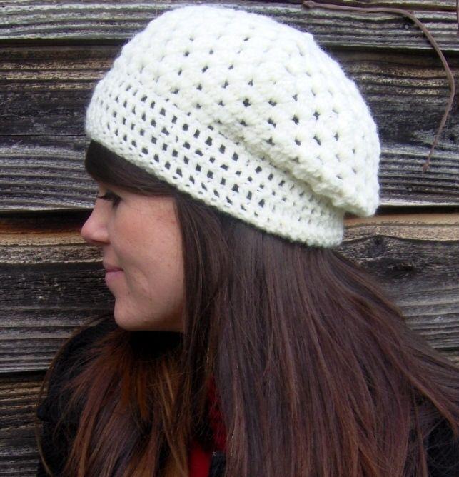 Slouchy Hat   Gorros, Gorros crochet y Gorro tejido